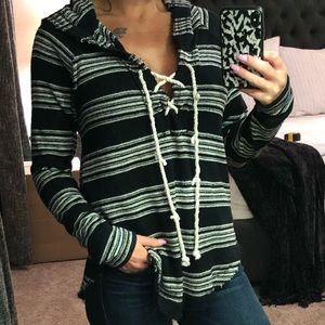 Billabong Beach Sweater - Black/White - small